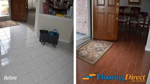 Laminate Flooring Vs Tile Old Builder Grade Flooring Vs New Wood Look Tile Flooring