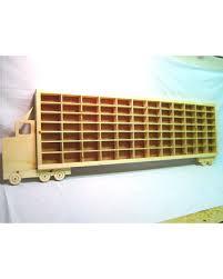 spectacular deal on wheels boys wood truck display case