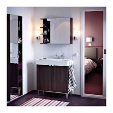 Ikea Bathroom Cabinet Doors Lillången Mirror Cabinet 2 Doors 1 End Unit Black Brown 31 1