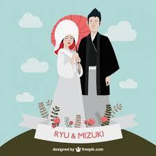 wedding invitations japan japanese wedding vector free