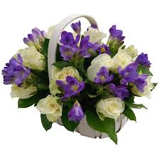 flower basket amethyst flower basket fresh flower basket with next day delivery