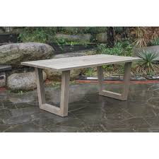 round table palo alto palo alto outdoor dining table free shipping today overstock com