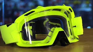 fox racing air defence motorcycle goggles review youtube