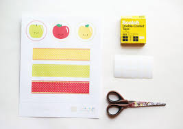 printable napkin rings diy happy apple printable napkin rings handmade