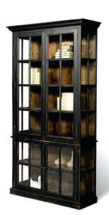 Solid Wood Bookcases With Glass Doors Bookcase Black Bookcase Solid Wood Black Wood Bookcase With
