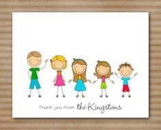 stick family note cards personalized custom set of 8 12 00