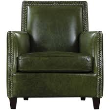 green leather nail studded chair urban chic