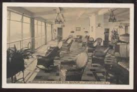 Postcard ATLANTIC CITY New JerseyNJ Colton Manor Sun Deck Wicker - Wicker furniture nj