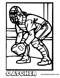 softball coloring pages to download and print for free