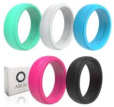 rubber wedding rings arua womens silicone rings 5 glossy wedding bands gift