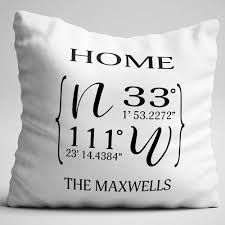 home state coordinates personalized throw pillow ninety6nine
