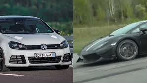 volkswagen supercar 745 hp golf r smokes a lamborghini gallardo autoevolution