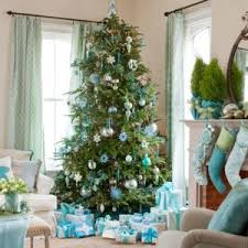 christmas tree decorations light blue decorating ideas