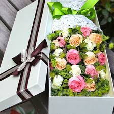 delivery flowers china 6 white roses 6 pink roses 6 chagne roses and greens in