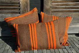 coussins orange coussin kilim vintage marron orange