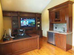 Home Office U Shaped Desk by Autumnwood Designs U0027 Home Theater Home Office And Kitchen Design