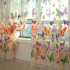 Arabic Curtains Butterfly Window Panel Curtains 200 Cm X 100 Cm Price Review