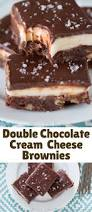double chocolate cream cheese brownies with maldon flake blogger
