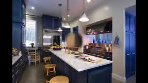 blue kitchen cabinets youtube