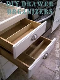 do it yourself drawer organizers diy kitchen organization