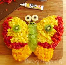 butterfly fruit pizza hungry happenings fun summer treats