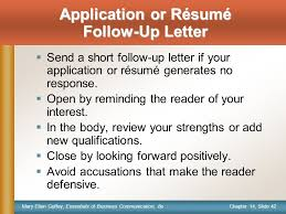 Resume Follow Up Note This Slide Provides Information For Only The Instructor