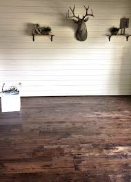 Put Laminate Flooring On The Wall Remodelaholic How To Install A Shiplap Wall Rustic Home Office