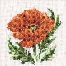 rto poppy flower cross stitch kit h167 123stitch