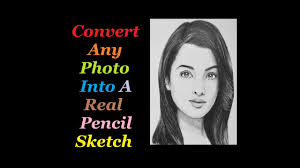 how to convert any photo into real pencil sketch in android youtube