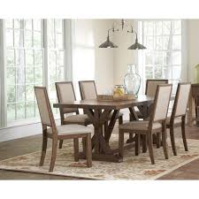 coaster furniture 105521 bridgeport dining table in weathered