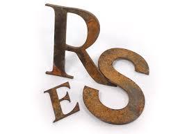 cor ten steel letters rust metal signs custom made woodland
