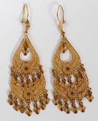 arabian earrings gold saudi arabian chandelier earrings