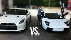 which is faster lamborghini or lamborghini murcielago vs nissan gt r race