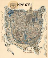Map Upstate New York by 1970s Map Reveals Worldview According To New Yorkers 6sqft