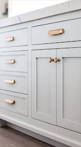 shaker style cabinet pulls love this soft grey shaker style cabinets with the gold pulls