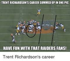 Raiders Fans Memes - trent richardson s careersummedupin one pic memes have fun with that