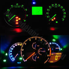 2003 ford focus instrument cluster lights 10pieces yellow white red blue pink green ice blue t5 dashboard led