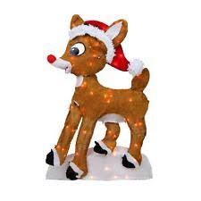 rudolph yard decorations ebay