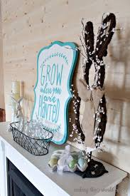 Easter Decorations For Mantel by Easter Mantel Decorations