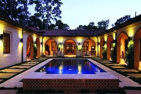 home courtyard courtyard style home plans contemporary house designs