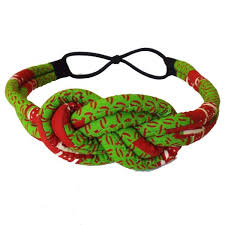 green headband deka print knot headband lime green oge unlimited