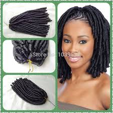 fake dreadlocks black women styles synthetic hair extension soft dread locks black color 70g pc use