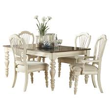 hillsdale pine island 7 piece dining table set with wheat back
