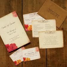 Shabby Chic Wedding Invitations by Shabby Chic Postcard Wedding Invitation Feel Good Wedding