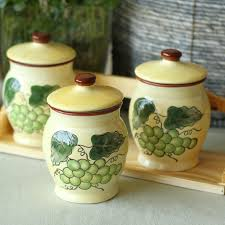 pottery kitchen canister sets decorative ceramic kitchen canisters