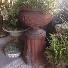 Pedestal Pots Large Terracotta Planters And Wicker Baskets Vintage Heirlooms