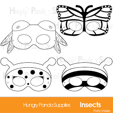 african mask coloring pages insects printable coloring masks insect masks ladybug mask