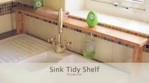 1364 bamboo over sink shelf sink tidy youtube