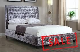 Velvet Bed Frame Bradford Furniture Carpets Store