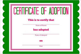 17 adoption certificate templates free pdf word design examples